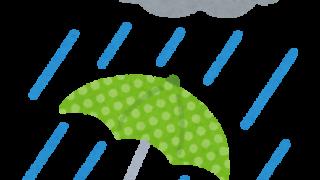 秋の長雨に必需品の傘