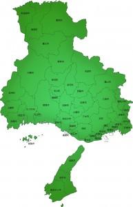 兵庫県の地図のイラスト