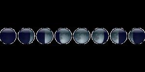 満ち欠けをする月のイメージ画像