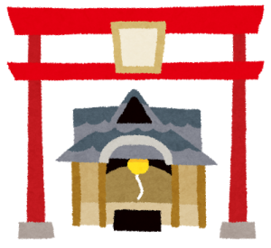 えびす神社のイラスト