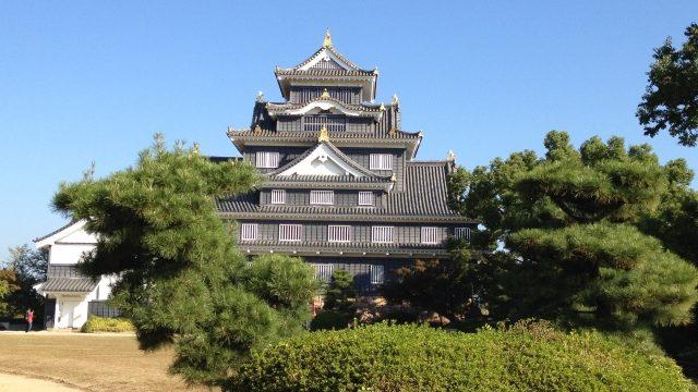 小早川秀秋が居城とした岡山城