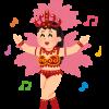 サンバを踊る女性のイラスト