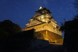 豊臣家が居城とした大坂城の夜景