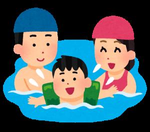 swimming_oyako