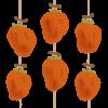 立冬の頃に出来上がる干し柿のイラスト
