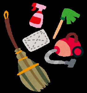煤払いに使う道具のイラスト