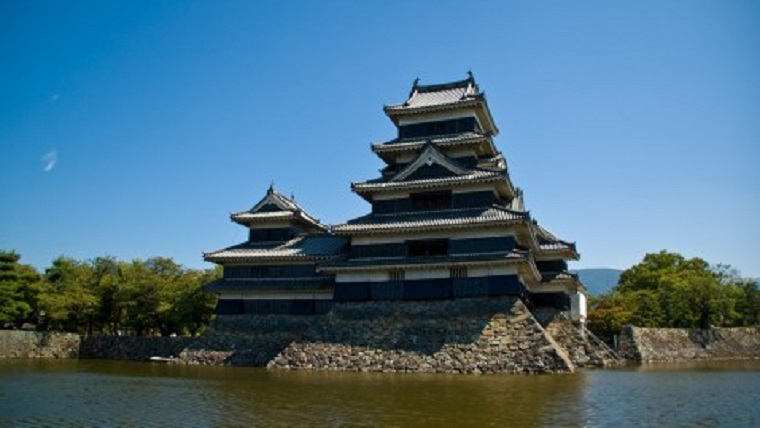 松本城の天守