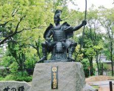 桶狭間の戦いで討ち死にした今川義元像