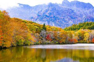 日本三大そばで有名な戸隠の風景