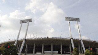 1964年の東京オリンピックで使われた国立陸上競技場