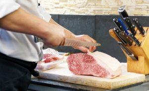 ステーキ屋の牛肉