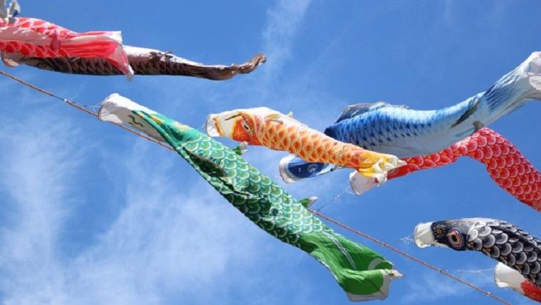 端午の節句の鯉のぼり