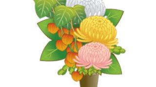 お盆の盆花のイラスト