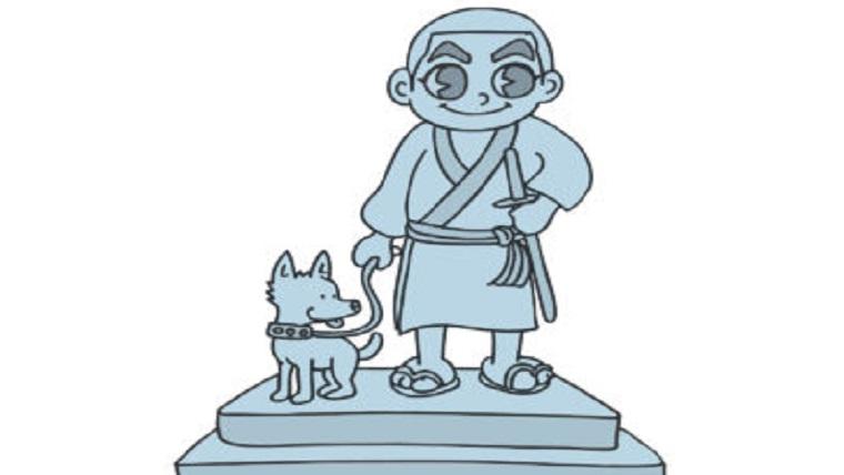 西郷隆盛像のイラスト