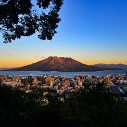 城山から桜島を望む