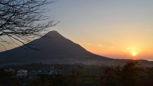夕景の桜島
