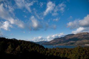 芦ノ湖の遠景