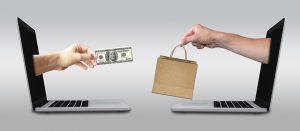インターネットで商品を購入するイメージ図