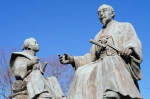 徳川斉昭と七郎麻呂(徳川慶喜)像