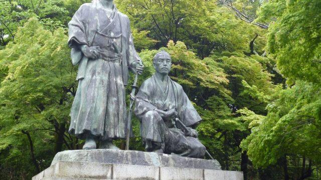 坂本龍馬・中岡慎太郎像