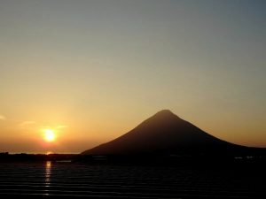 鹿児島の開聞岳の風景