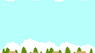秋の農村の風景