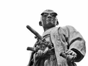 靖国神社の大村益次郎像(アップ)