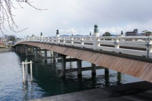 日本三名橋の一つと言われる滋賀県の瀬田の唐橋