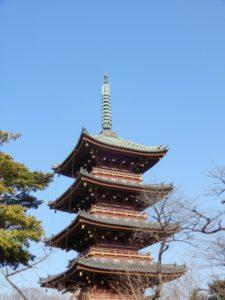 旧寛永寺の五重塔