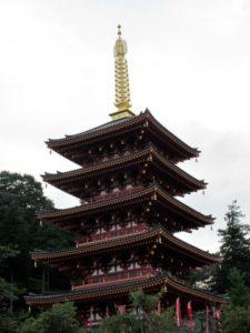 高幡不動尊の五重塔