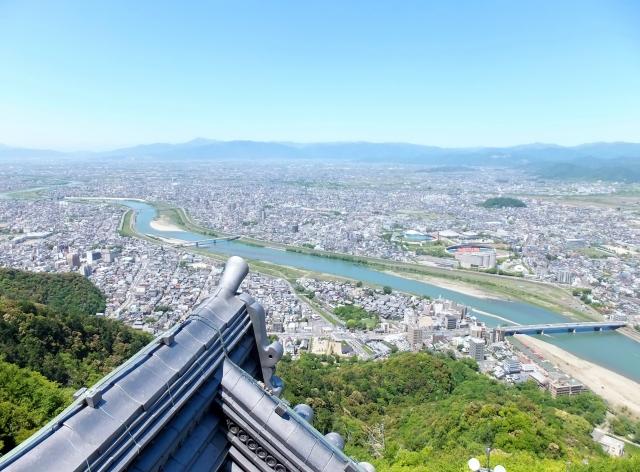 岐阜城から見える長良川