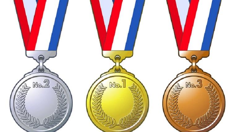金銀銅メダルのイラスト