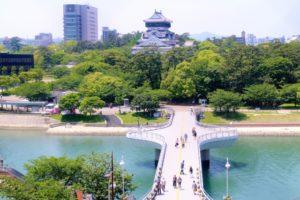細川家の居城の小倉城