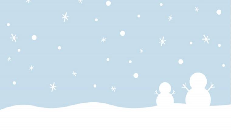 大寒の頃の雪景色
