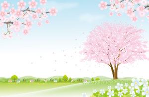 3月の風景のイラスト