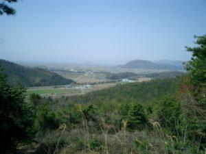 小谷城址から琵琶湖を望む
