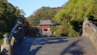 鎌倉の鶴岡八幡宮遠景